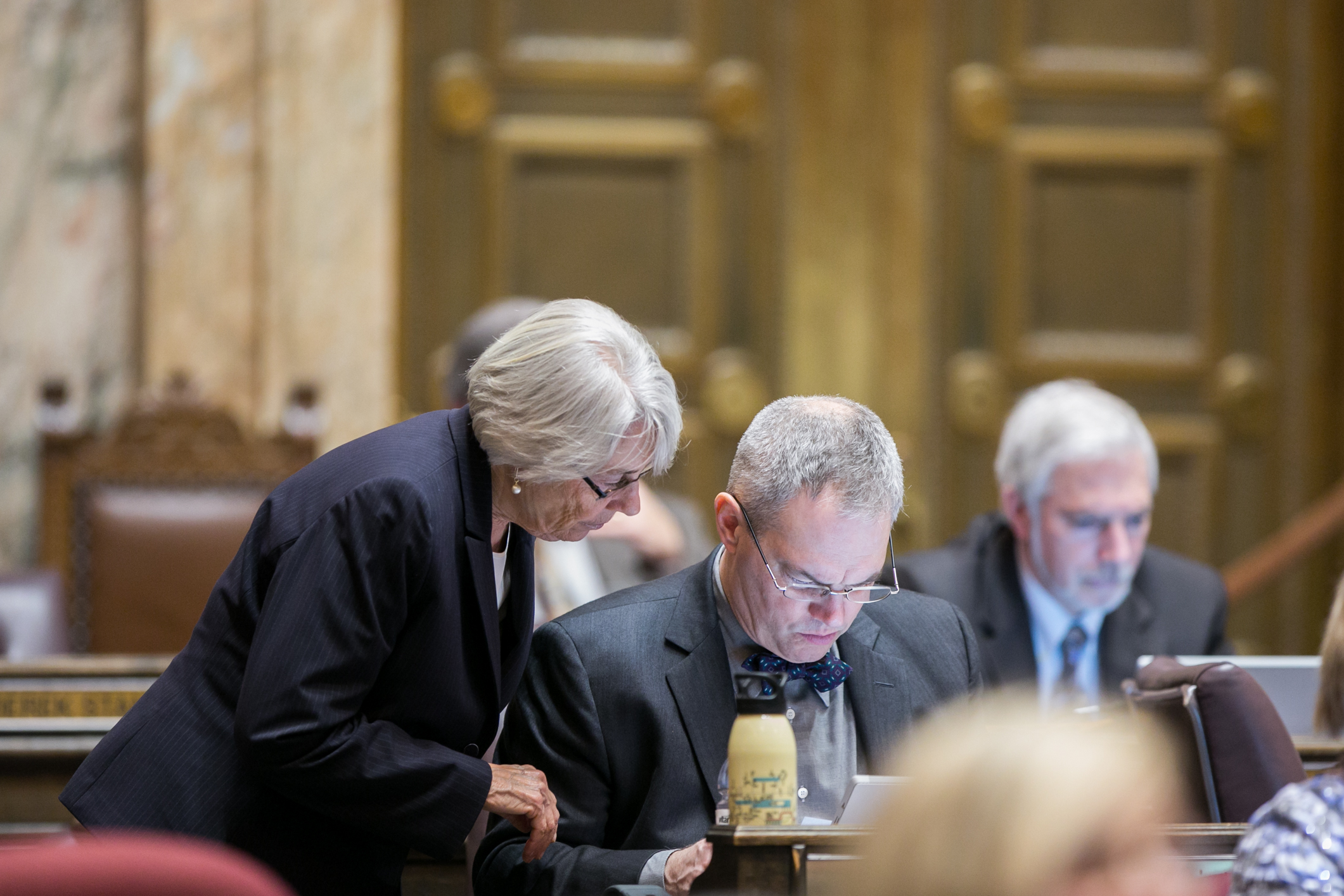 The Washington State House of Representatives convenes for floor session March 9, 2015, the 57th day of the legislative session.